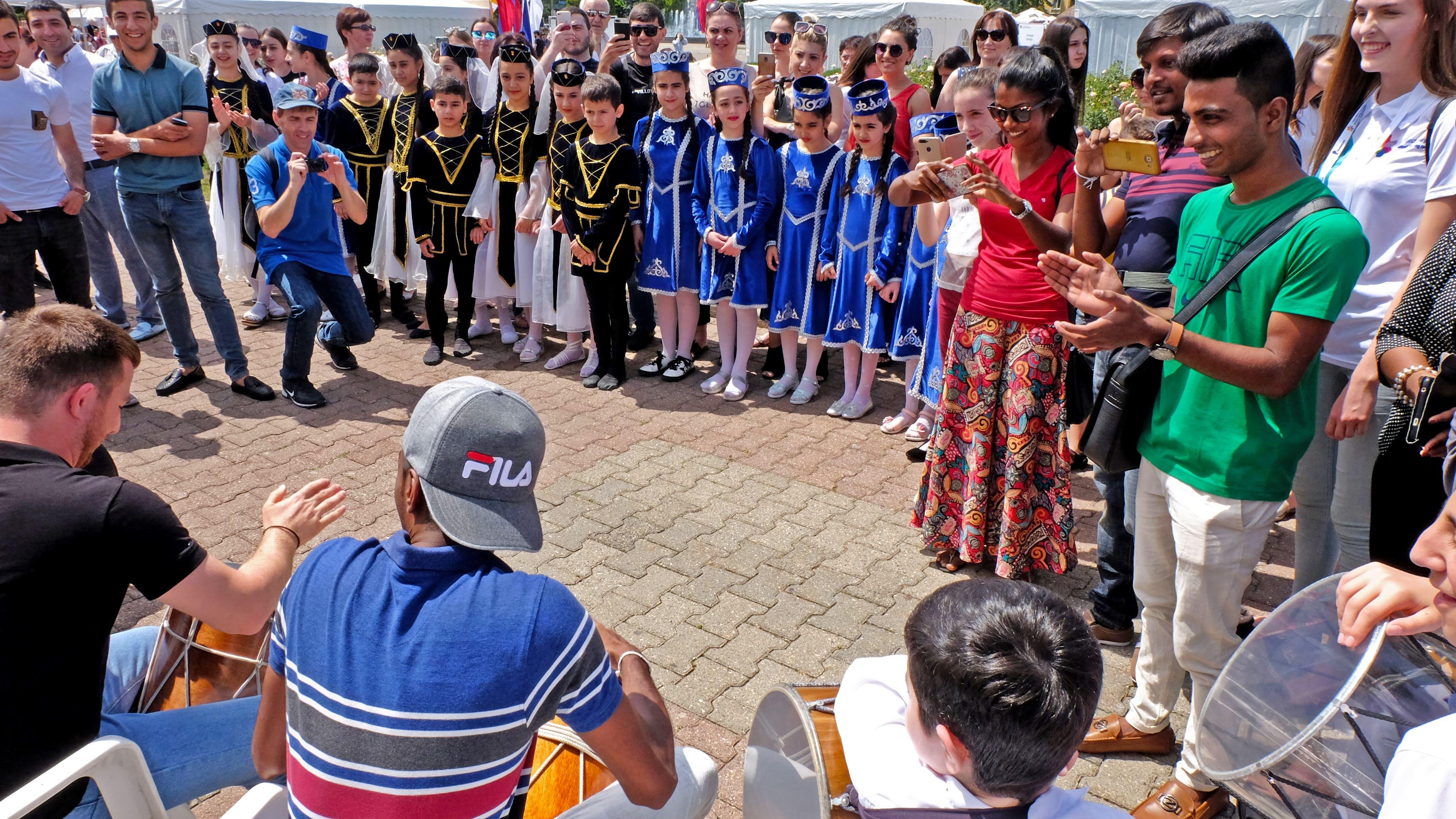 Национальные подворья украсили Международный фестиваль  «Студенческая весна» в Ставрополе